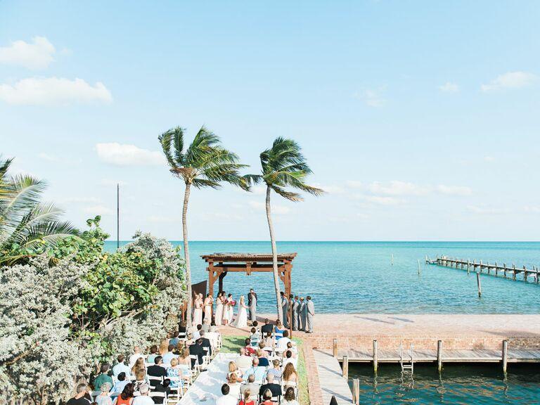 The Caribbean Resort beach wedding ceremony