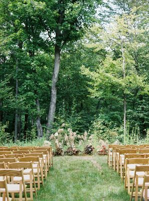 Outdoor Ceremony Setup at Nature Michigan Retreat in Maple City