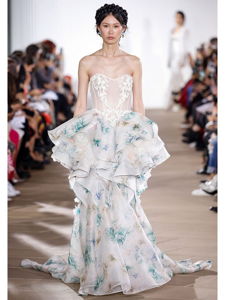 Ines Di Santo wedding dress colorful tiered dress
