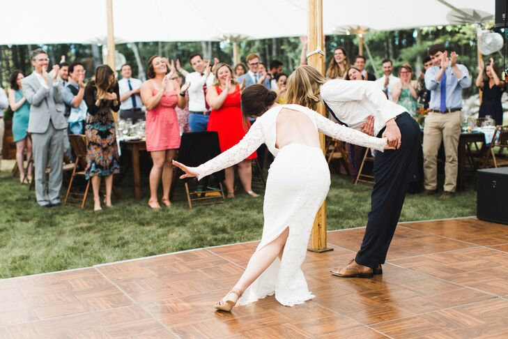 Couple Perform Swing for First Dance
