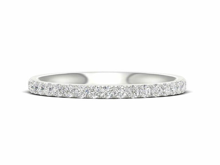 Jenny Packham Darling lab grown diamond wedding band in platinum