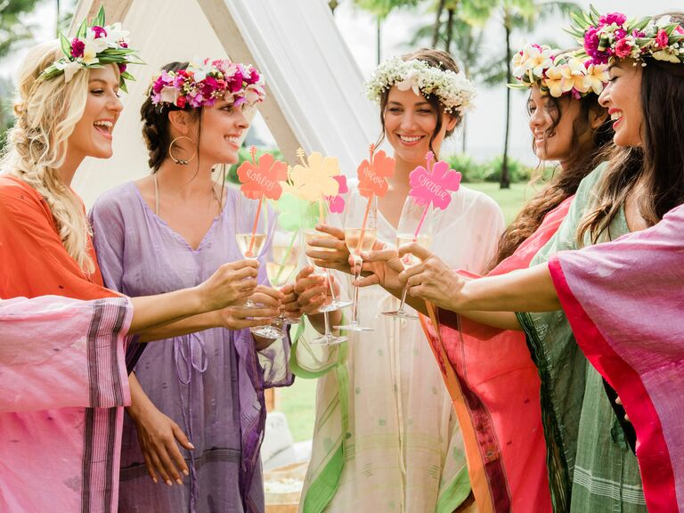 f1f6ce407b4 bohemian bridal shower with flower crowns