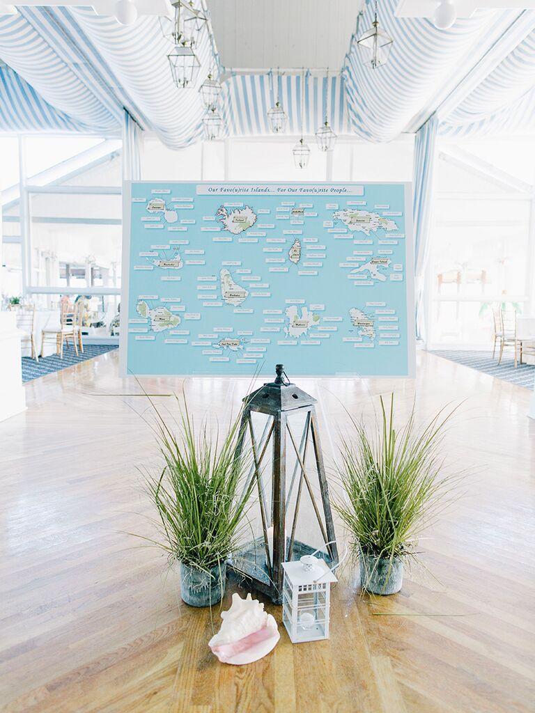 Beach-themed wedding reception ideas
