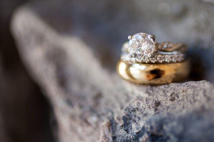 Diamond and Gold Wedding Rings