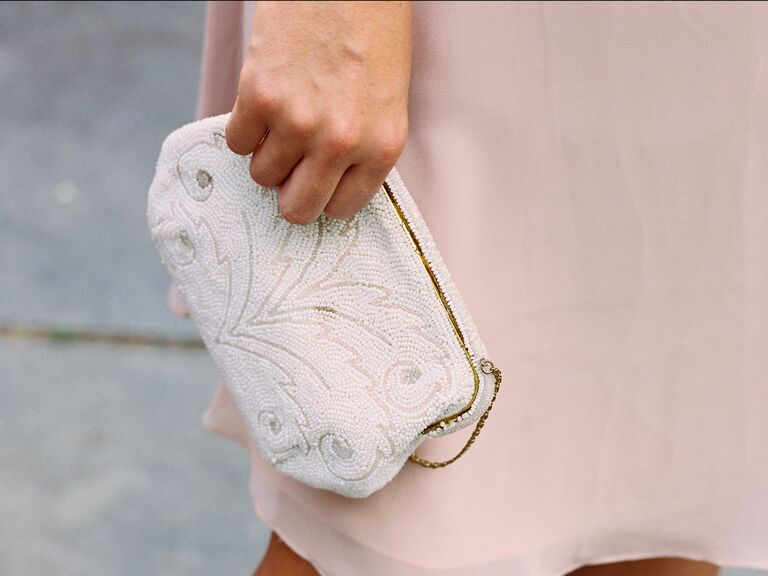Beaded bridesmaid clutch
