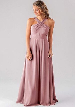 Kennedy Blue Elena Halter Bridesmaid Dress