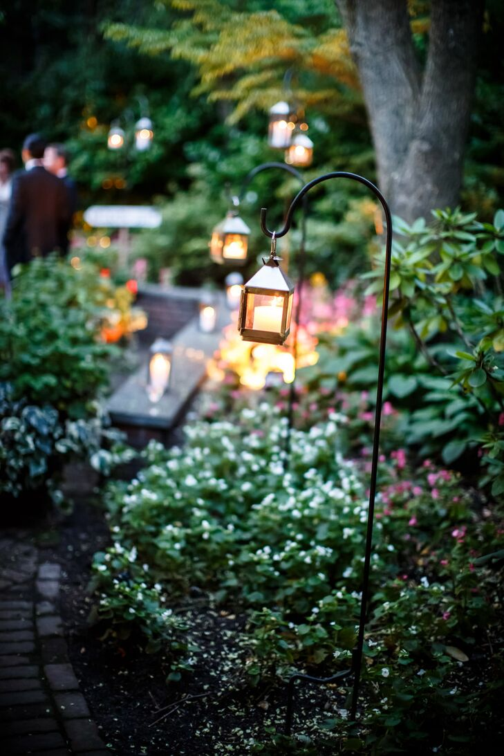 Small Hanging Lantern Cocktail Hour Decor