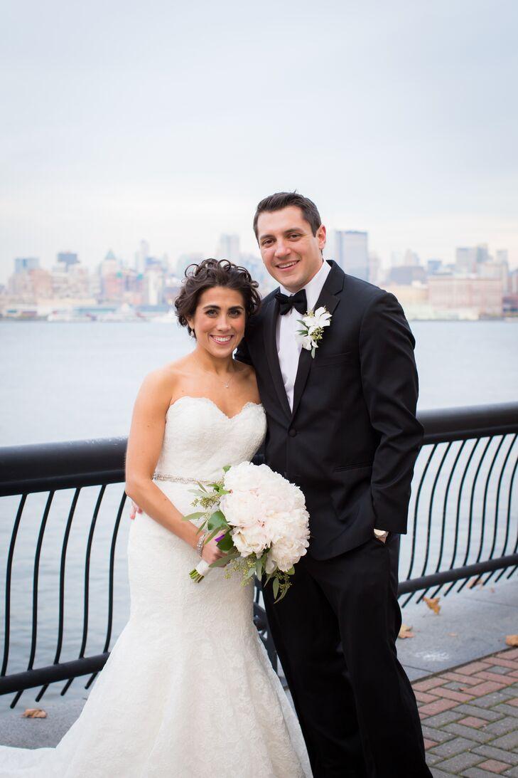 Bride, Groom With City Skyline