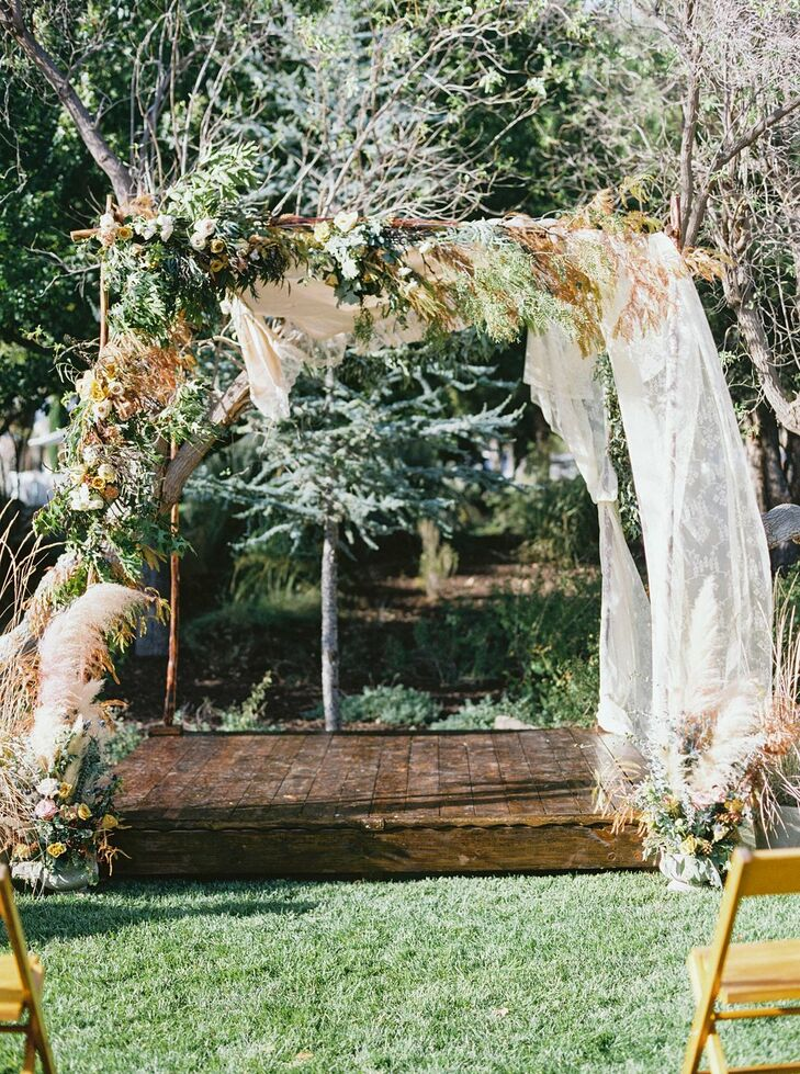 Chuppah at Marathon, Texas Wedding