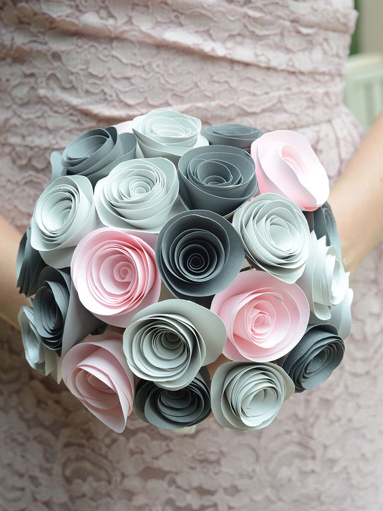 15 ways to use paper flowers at your wedding paper bridesmaid bouquet mightylinksfo
