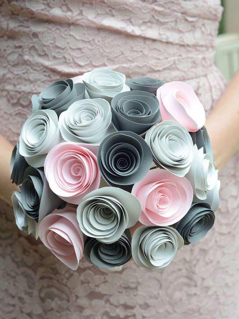 Colorful paper bridesmaid bouquet
