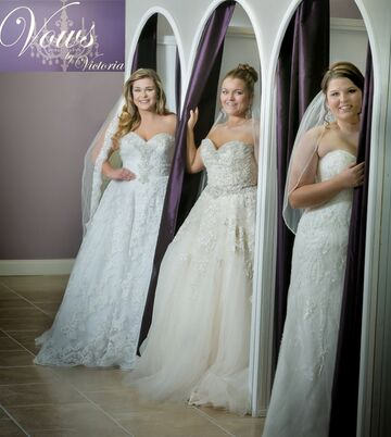 Bridal salons in gonzales la the knot for Wedding dress cleaning baton rouge