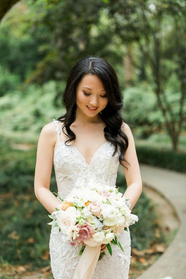 Bride with Bouquet at Cator Woolford Gardens in Atlanta