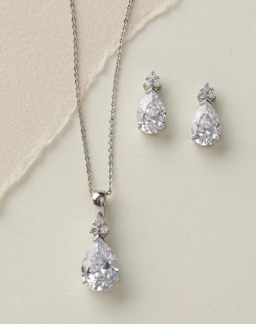 USABride CZ Pendant Jewelry Set (JS-1646) Wedding Necklaces photo