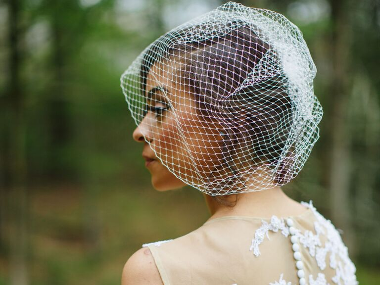 Gold Birdcage veil Wedding Veil crystal Bandeau Bird cage Veil Crystal Veil Bird Cage Veil Wedding Birdcage veil Gold veil Viser Veil