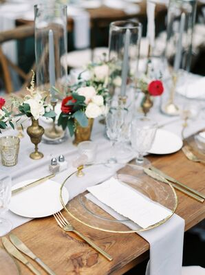 Gold Flatware and Gold-Rimmed Chargers