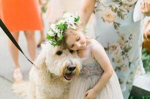 Flower Girl with Dog