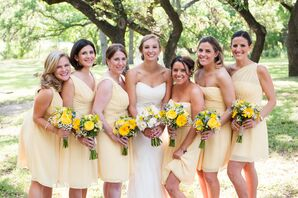 Canary Yellow Bridesmaid Dresses