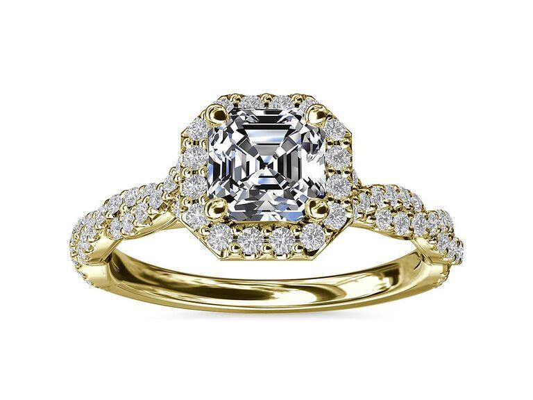 Blue Nile asscher diamond engagement ring