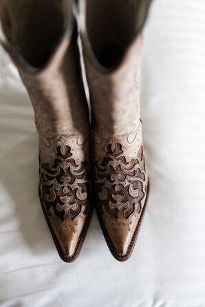 Bridal Cowboy Boot Wedding Shoes