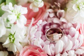 Rose Gold Princess-Cut Halo Engagement Ring