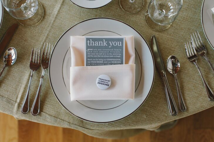 Thank You Card and Favor Pin