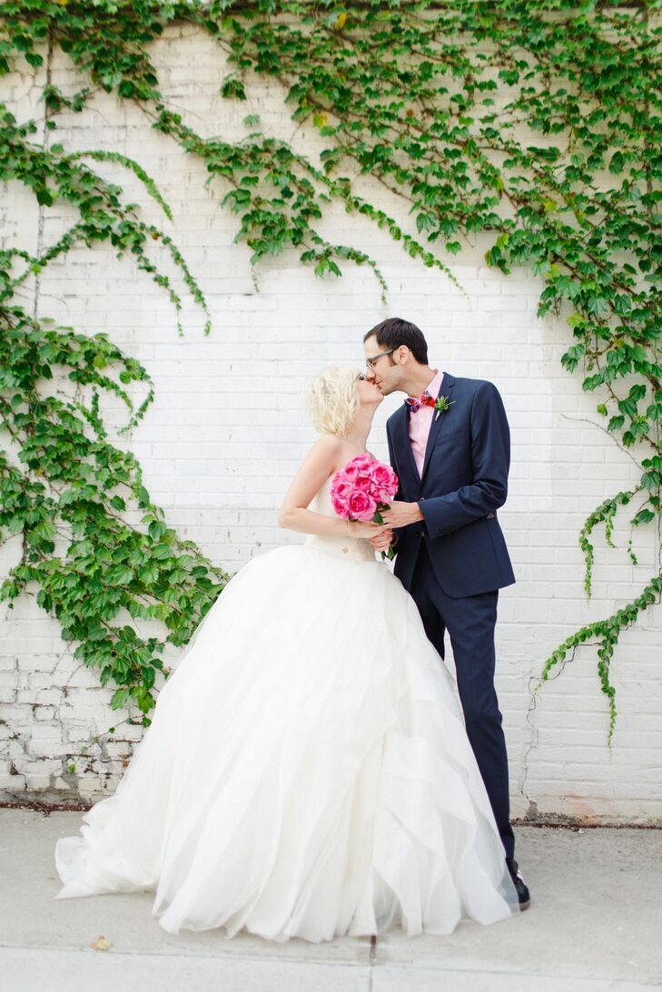 For Risa Abrams (32 and a TV producer) and Michael Smagula's (33 and a high school guidance counselor) summer wedding in New York City, traditional si