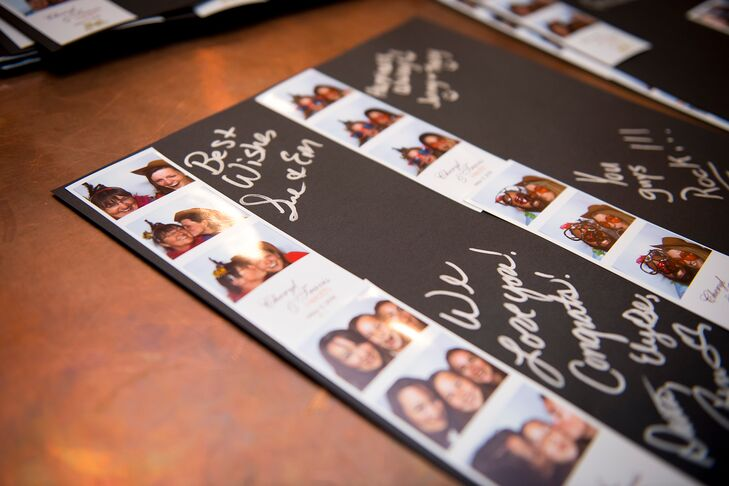 Cheryl and Travis hired a photo booth from Poshbooth for their guests to enjoy. Guests left a copy of their pictures with a note for the bride and groom.