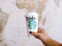 bride coffee cup