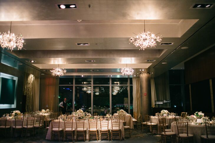 """We chose the Ritz Carlton Boston, which is blocks from the Emerson campus [where we originally met],"" Marissa says. ""The ballroom is modern, yet elegant and has gorgeous views of the park. We wanted to take the unpredictable element of weather out of the equation on our special day, which is why the hotel was perfect for us."""