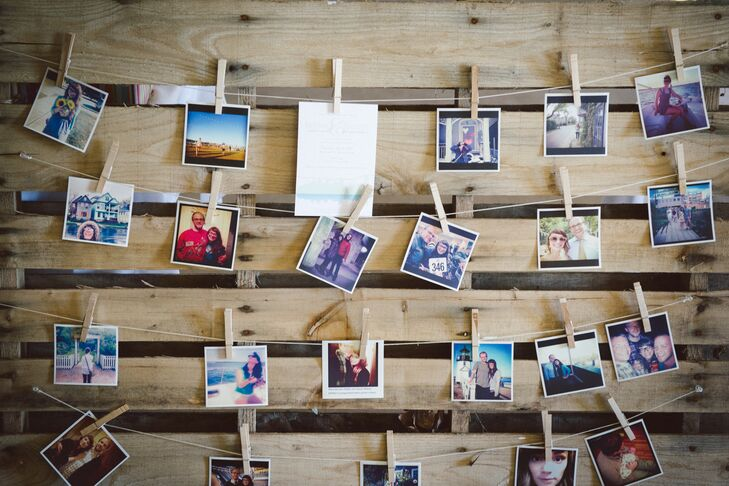Polaroid Escort Card Display