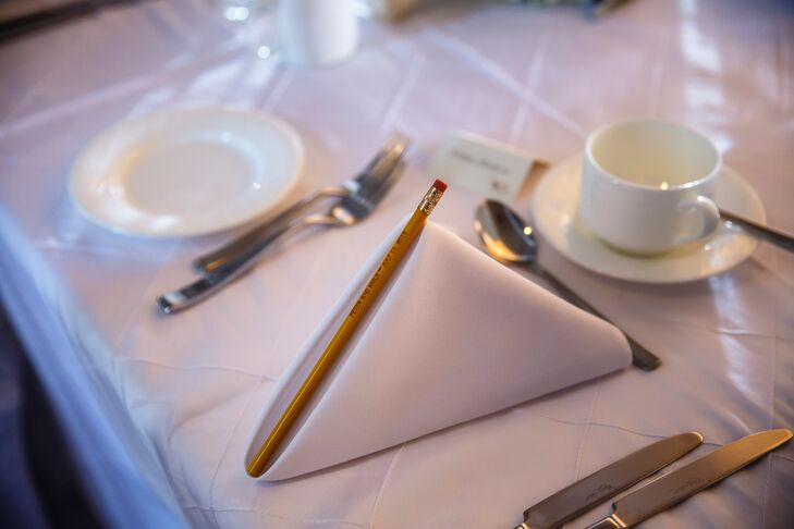 Pecils in White Linen Napkins