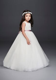 David's Bridal Flower Girl David's Bridal Style RK1368 White Flower Girl Dress