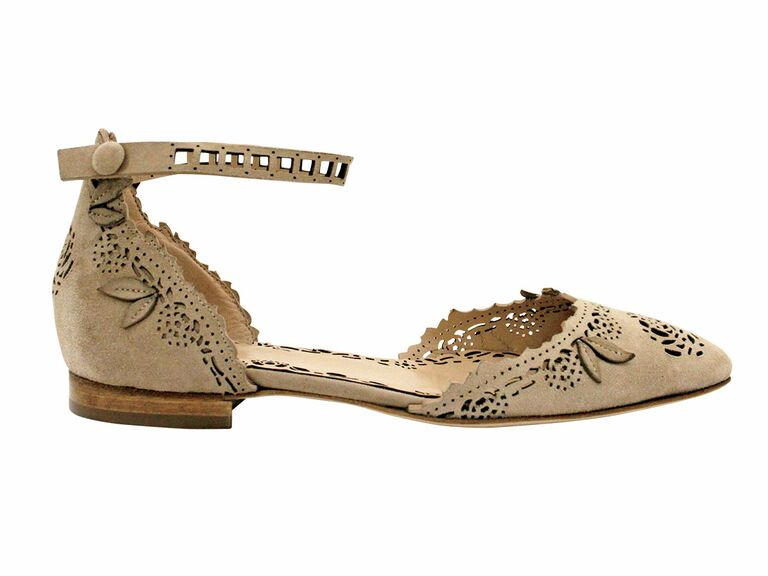 Marchesa flats with an ankle strap