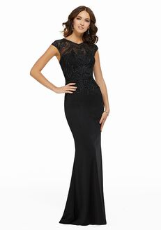 MGNY 72003 Black Mother Of The Bride Dress