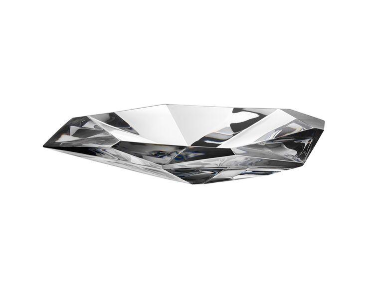 Crystal tray bridal shower gift idea
