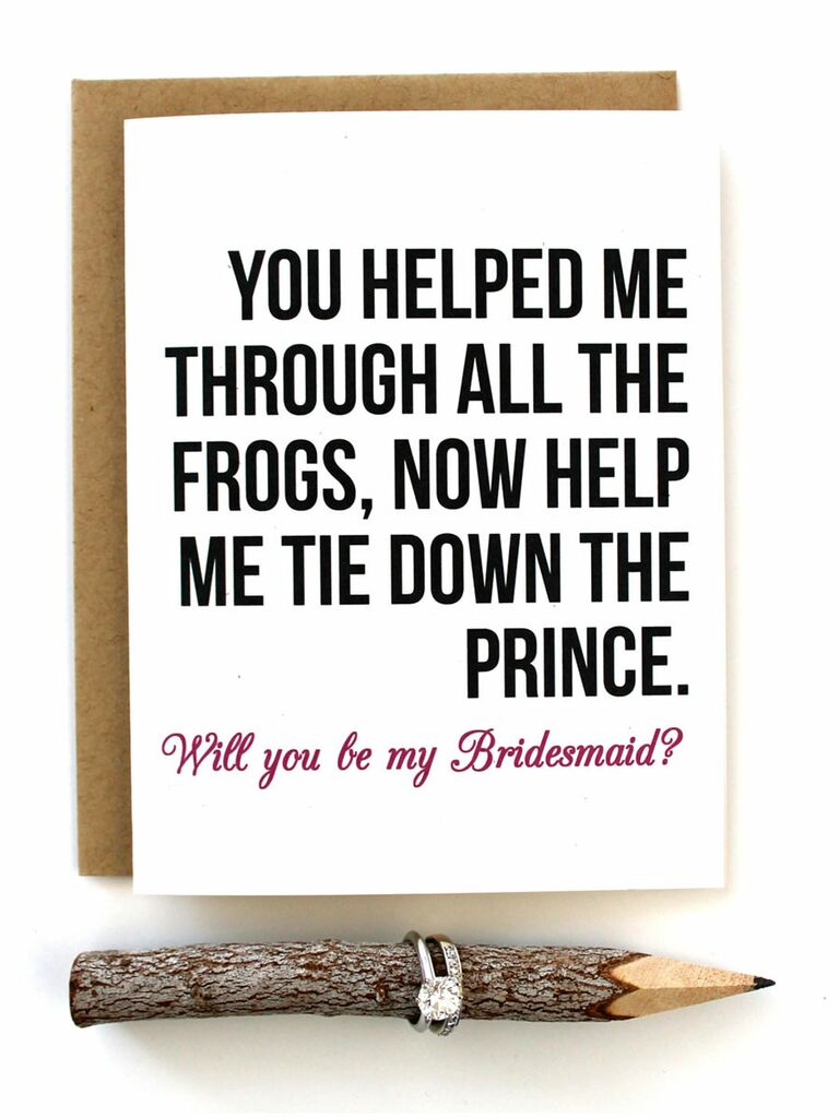 Funny Ways To Ask Bridesmaids To Be In Your Wedding | 40 Creative Bridesmaid Proposal Ideas