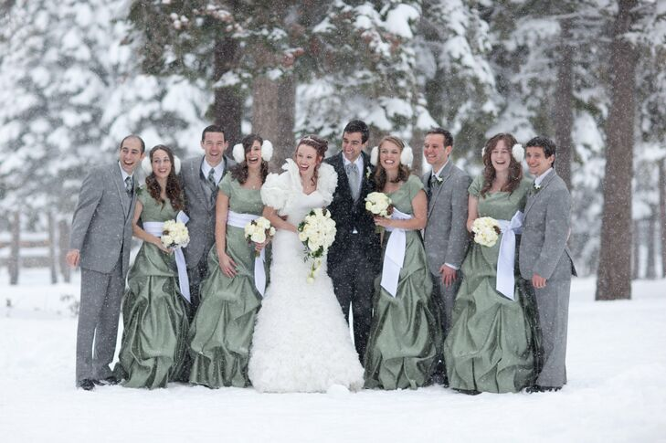 Green Floor Length Bridesmaid Dresses