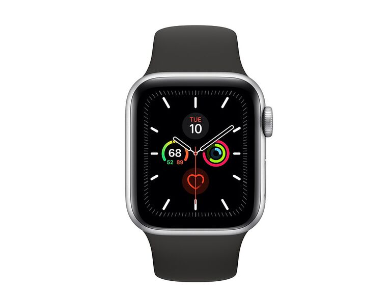 Apple Watch with black wristband