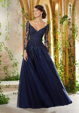 MGNY 71935 Blue Mother Of The Bride Dress