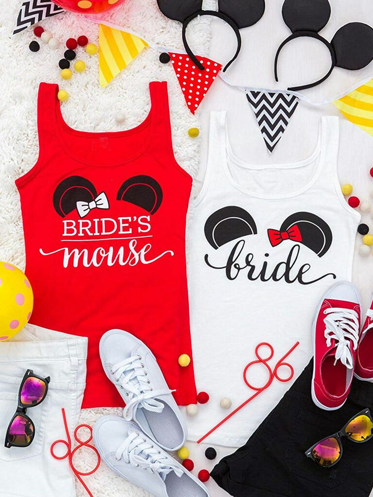298ee560c3774 bachelorette party tank tops inspired by Minnie Mouse