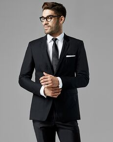 Generation Tux Black Notch Lapel Suit Black Tuxedo