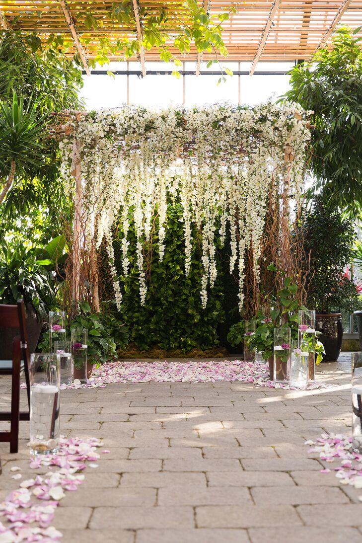 White Floral Wedding Arch
