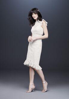 David's Bridal Galina Style WG3957 Sheath Wedding Dress