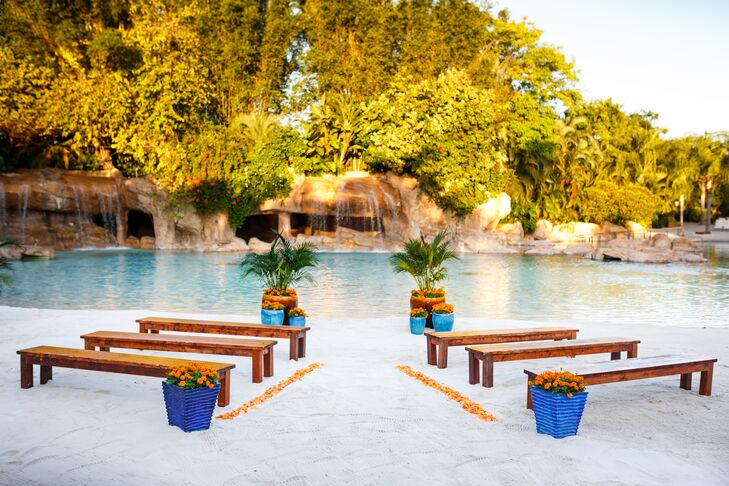Intimate Discovery Cove Beach Ceremony