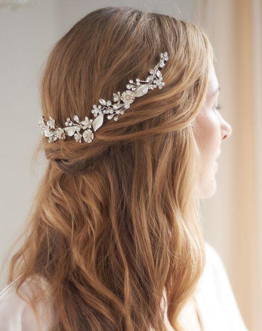 Dareth Colburn Vera Delicate Floral Hair Vine (TI-3362) Silver Headband