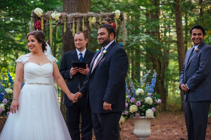 A Vintage-Inspired Forest Ceremony