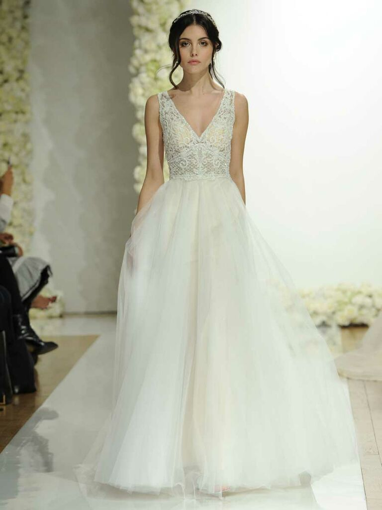 d642ff12d01 Morilee by Madeline Gardner Spring 2019 soft tulle ball gown wedding dress  with crystallized embroidery