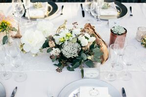 Rustic Chic Centerpieces with Driftwood
