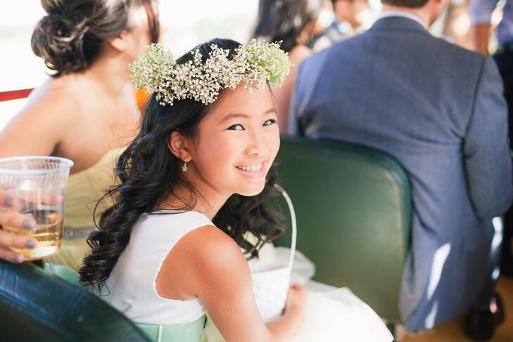 Flower Girl, Baby's Breath Flower Crown